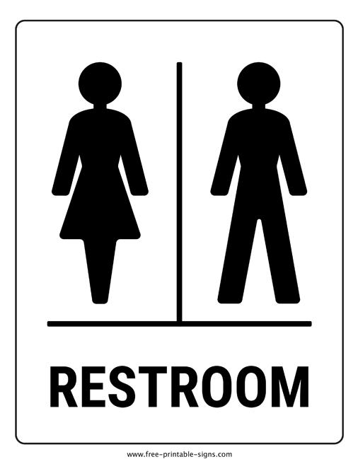 Printable Bathroom Sign Free Printable Signs