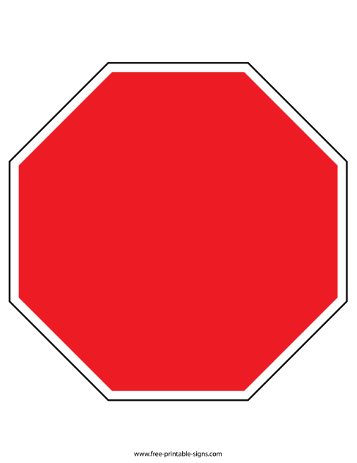 It is a graphic of Stop Sign Printable regarding colouring