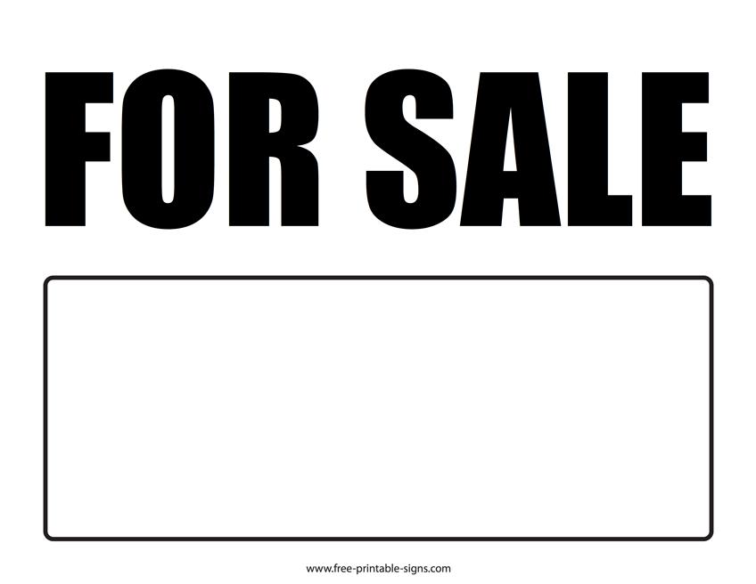 printable for sale sign  u2013 free printable signs