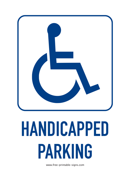 image relating to Printable Handicap Sign named Printable Handicap Parking Indicator Totally free Printable Symptoms