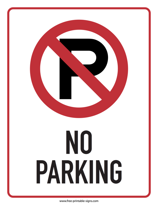 image about Free Printable Signs identified as Printable No Parking Signal Cost-free Printable Indicators