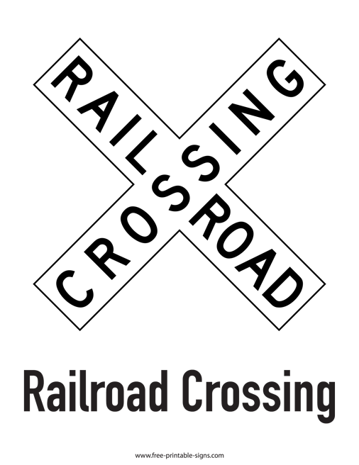Printable Railroad Crossing Sign – Free Printable Signs