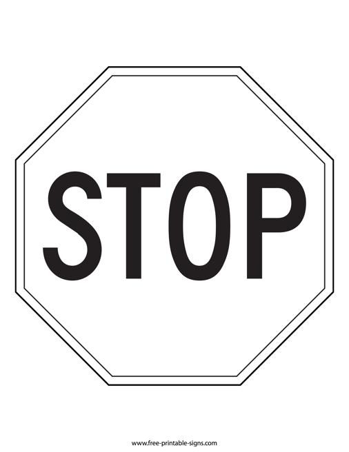 graphic regarding Printable Stop Sign named Printable Avoid Indication Black And White Totally free Printable Signs and symptoms