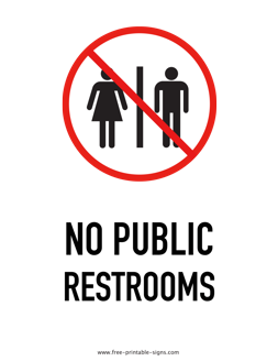 photograph regarding Printable Signage known as Printable No Community Restroom Indication Cost-free Printable Signs or symptoms