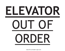 Printable Out Of Order Signs Free Printable Signs