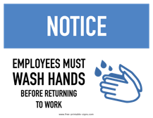 photo relating to Wash Hands Sign Printable named Printable Staff Really should Clean Arms Indication Cost-free Printable Indications