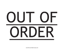 photograph about Out of Order Sign Template known as Printable Reserved Indication Template Totally free Printable Indications